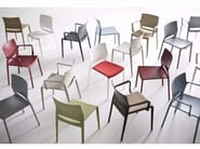 Stackable chair with armrests BAKHITA | Chair with armrests - GABER