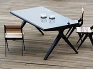 Tavolo rettangolare in acciaio e vetro BALANCE | Tavolo - Efasma