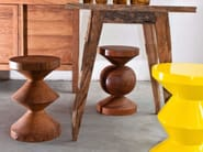 Wooden stool / coffee table BALL - Pols Potten
