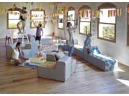 Upholstered fabric lounge chair BANDAS A | Lounge chair - GAN By Gandia Blasco