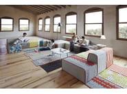 Upholstered fabric lounge chair BANDAS C   Lounge chair - GAN By Gandia Blasco