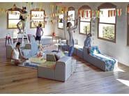 Upholstered fabric lounge chair BANDAS D | Lounge chair - GAN By Gandia Blasco