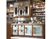 Fitted wood kitchen BAR & BARMAN - Marchi Cucine