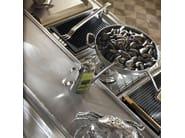 Cucina componibile in acciaio inox e legno con isola BAR & BARMAN - Marchi Cucine