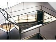 Mirrored glass trolley BAR CART WITH BRONZE MIRROR - Notre Monde