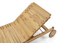 Recliner teak garden daybed with Casters BARCODE | Garden daybed with Casters - Varaschin
