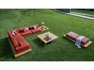 Corner sectional garden sofa BARCODE   Sectional sofa - Varaschin