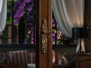Baroque brass door handle with lock BAROCCO | Brass door handle - LINEA CALI'