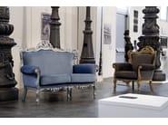 Upholstered 3 seater leather sofa BAROKKO | 3 seater sofa - Domingo Salotti