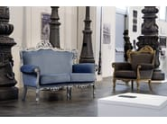 Classic style upholstered fabric armchair BAROKKO | Armchair - Domingo Salotti