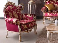Upholstered armchair with armrests BAROQUE | Armchair - Arvestyle