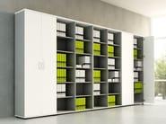 Office storage unit with hinged doors BASIC | Office storage unit - MDD