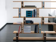 Open sectional wooden bookcase BB21 - Janua