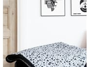 Reversible cotton bedspread with graphic pattern Bedcover - Kristina Dam Studio