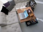 Height-adjustable square wooden coffee table BELLAGIO | Square coffee table - Ozzio Italia