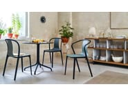 Stackable polyamide chair with armrests BELLEVILLE AMRCHAIR PLASTIC - Vitra