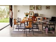 Upholstered leather chair with armrests BELLEVILLE ARMCHAIR LEATHER - Vitra