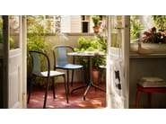 Stackable wooden chair BELLEVILLE CHAIR WOOD - Vitra