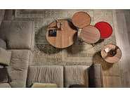Low round wooden coffee table BILLY WOOD - Cattelan Italia