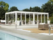 Freestanding aluminium pergola with adjustable louvers BIOSHADE AUTOPORTANTE - TENDA SERVICE