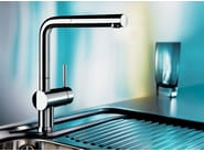 Chrome-plated kitchen mixer tap with spray with pull out spray BLANCO LINUS-S - Blanco