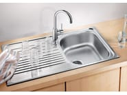 Single built-in stainless steel sink with drainer BLANCO TIPO 45 S - Blanco