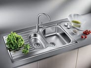 Built-in stainless steel sink with drainer BLANCO TIPO 6 S BASIC - Blanco