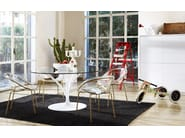 Plastic chair BLOOM | Polycarbonate chair - Calligaris