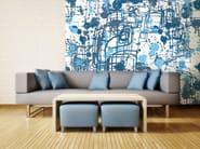 Motif nonwoven wallpaper BLU INK - MyCollection.it