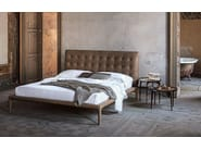 Leather double bed with upholstered headboard BOHÈME - ALIVAR