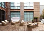 Wicker garden armchair with armrests BOLERO | Armchair - Varaschin
