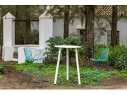Sled base powder coated steel counter stool with footrest BOLONIA | Counter stool - iSimar