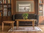 Tavolino da caffè ovale in legno massello BONTRI ELLIPSE - ST FURNITURE