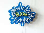 Wall-mounted neon light installation BOOM - Sygns