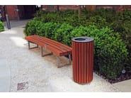 Portarifiuti in acciaio inox con coperchio BOORT | Portarifiuti - Factory Street Furniture