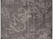 Handmade rectangular custom fabric rug BOURBON ANTHRACITE - EDITION BOUGAINVILLE
