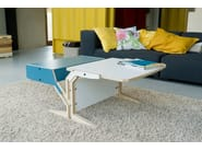 Low multi-layer wood coffee table with integrated magazine rack BOX & HORIZONTAL TABLET - rform