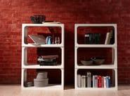 Open freestanding plywood bookcase BOXIT - Müller Möbelwerkstätten