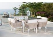 Tavolo da giardino quadrato per contract BRAFTA 22937 - SKYLINE design