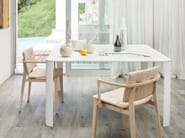 Lacquered square solid wood table BREAK - Lema
