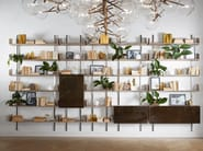Wall-mounted modular wooden bookcase BRERA - Gallotti&Radice