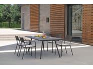 Tavolo allungabile da giardino rettangolare in acciaio BRIDGE | Tavolo allungabile - EMU Group S.p.A.