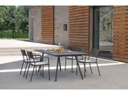 Extending rectangular steel garden table BRIDGE | Extending table - EMU Group S.p.A.