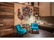 Indoor wooden 3D Wall Cladding BRIDGES - Wonderwall Studios