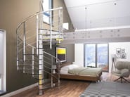 Glass and Stainless Steel Spiral staircase BRILLIA - RINTAL