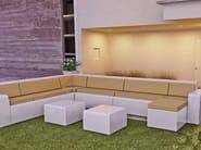 Modular polyethylene garden armchair with light BRISA | Modular garden armchair - Lamalva