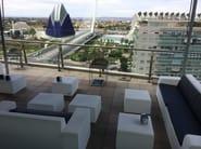 Polyethylene sofa / restaurant booth BRISA | Modular sofa - Lamalva