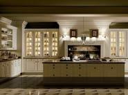 Kitchen with island BRITANIA BLANCO VIEJO - Doca