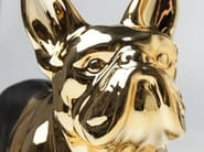 Ceramic money box BULLDOG GOLD-BLACK - KARE-DESIGN