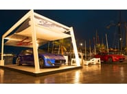 Aluminium pergola with built-in lights BUONVENTO - Frigerio Tende da Sole